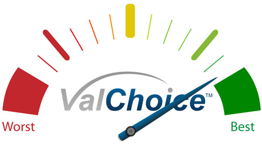 ValChoice Gauge Indicating Excellence In Claims Payment Record