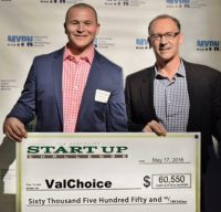 New Hampshire Start Up Challenge 1st Place Winner. Prize total equaled $60,550.