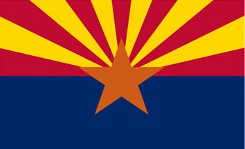 The Arizona state flag is the image for the Arizona insurance information page