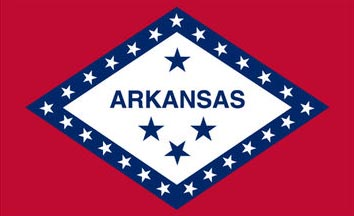 The Arkansas state flag is the image for the Arkansas insurance page