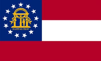 The Georgia state flag is the image for the Georgia insurance page on the ValChoice website
