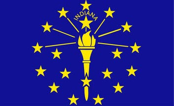 The Indiana state flag is the image for the Indiana insurance information page on the ValChoice website