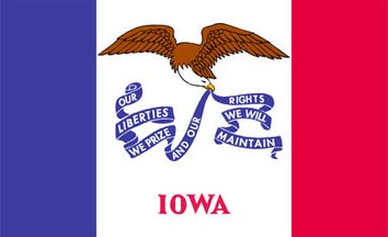 The Iowa state flag is the image for the Iowa insurance information page on the ValChoice website