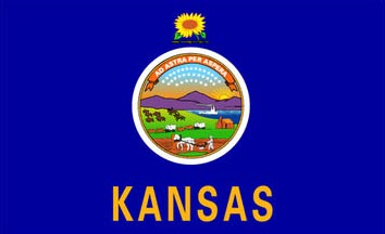 The Kansas state flag is the image for the Kansas insurance information page on the ValChoice website