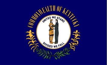 The Kentucky state flag is the image for the Kentucky insurance information page on the ValChoice website