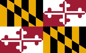 The Maryland state flag is the image for the Maryland insurance page on the ValChoice website