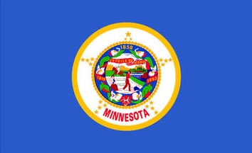 The Minnesota state flag is the image for the Minnesota insurance page on the ValChoice website