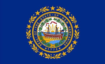 The New Hampshire state flag is the image for the New Hampshire insurance information page on the ValChoice website