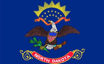 The North Dakota state flag is the image for the North Dakota insurance page on the ValChoice website