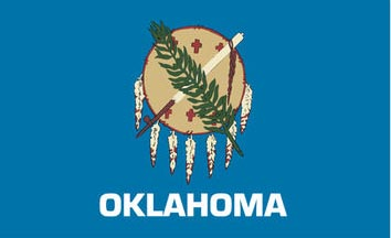 The Oklahoma state flag is the image for the Oklahoma insurance information page on the ValChoice website