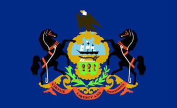 The Pennsylvania state flag is the image for the Pennsylvania insurance information page on the ValChoice website