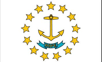 The Rhode Island state flag is the image for the Rhode Island insurance information page on the ValChoice website