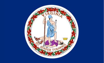 The Virginia state flag is the image for the Virginia insurance page on the ValChoice website