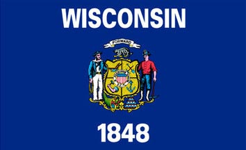 The Wisconsin state flag is the image for the Wisconsin insurance page on the ValChoice website