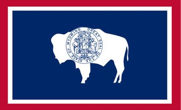 The Wyoming state flag is the image for the Wyoming insurance page on the ValChoice website