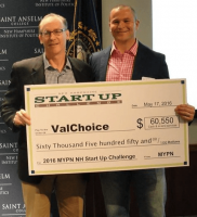 Founder, Dan Karr, accepting first place prize for the New Hampshire Startup Challenge