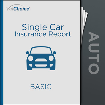 The Single Car Insurance Report compares a single company to the industry average