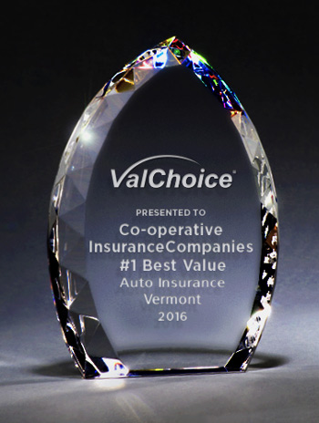 Co-operative Insurance Companies, #1 Best Value in car insurance, Vermont, 2016