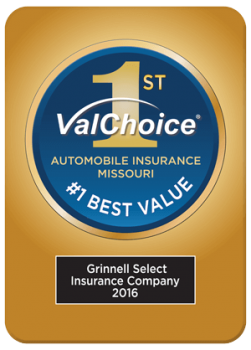 Grinnell Select, Number One Best Value in Auto Insurance, Missouri, 2016