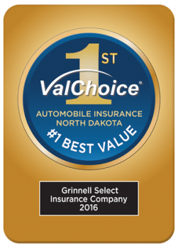 Grinnell Select, Number One Best Value in Auto Insurance, North Dakota, 2016