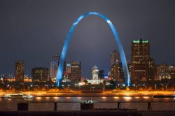 The arch over St. Louis and the image for the ValChoice Find and insurance agent in Missouri, Best Car Insurance in Missouri and Best Home Insurance in Missouri web page.