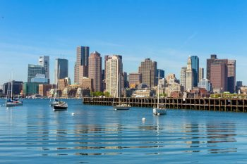 City of Boston Across Boston Harbor. Image for Find and Insurance Agent in Massachusetts webpage