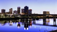 Image of Little Rock Arkansas at Dusk. Image presented on the Find Insurance Agents in Arkansas, Best car insurance in Arkansas, Best home insurance in Arkansas pages of ValChoice of the website.
