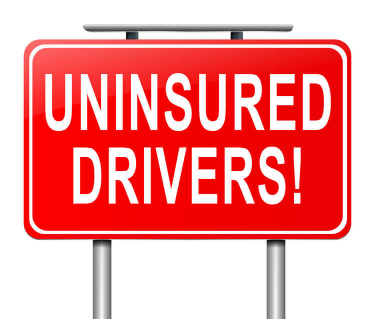 Uninsured motorist warning sign