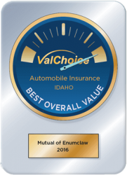 Mutual of Enumclaw qualified as A Best Overall Value of auto insurance in the state of idaho, 2016