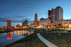 Columbus, Ohio skyline image for the find insurance agents in Ohio, best car insurance in Ohio and best home insurance in Ohio web pages.