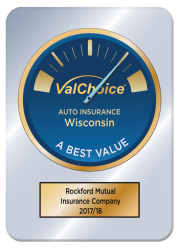Rockford Mutual Insurance award for being A Best Value for auto insurance in Wisconsin