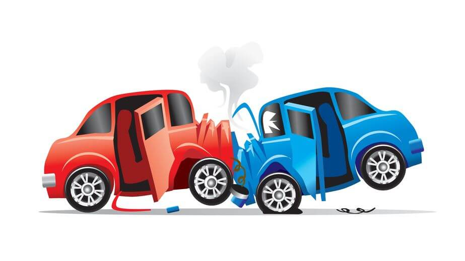 Image of two cars colliding for blog post on cheap car insurance