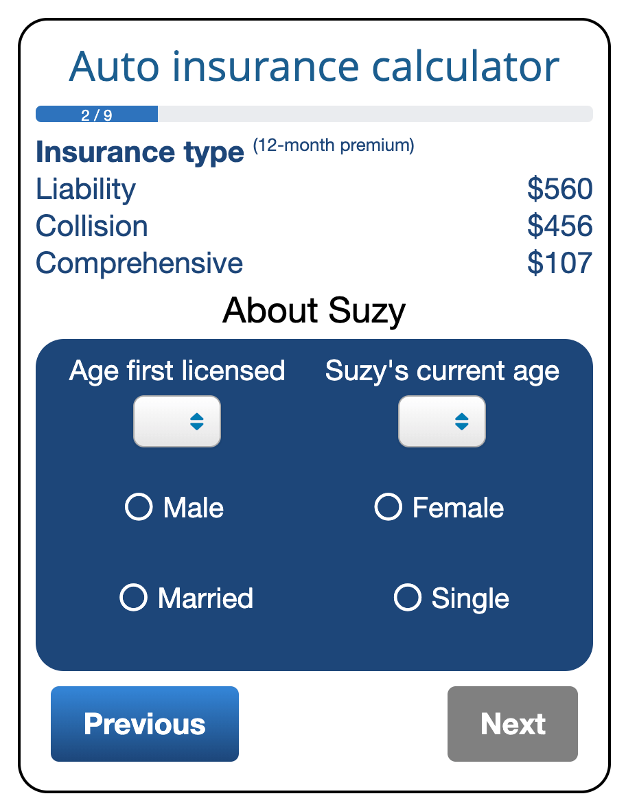 """This page of the ValChoice car insurance calculator answers the question of """"whether cheap car insurance is available where you live?"""""""