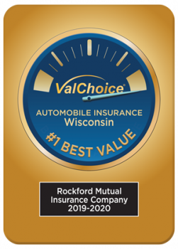 Rockford Mutual Insurance Company Number One Best Value for Car Insurance in Wisconsin, 2019