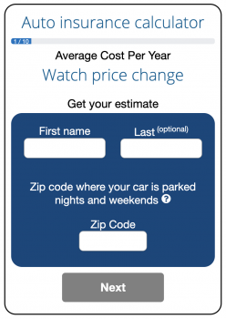 Image of the ValChoice Car Insurance Calculator