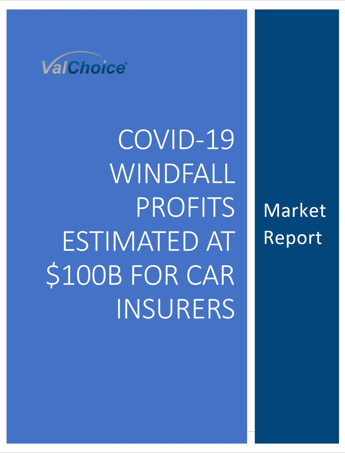 Image for report on COVID-19 Windfall Profits Estimated at $100B for Car Insurers